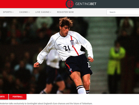 Darren Anderton joined GentingBet to preview England v Scotland