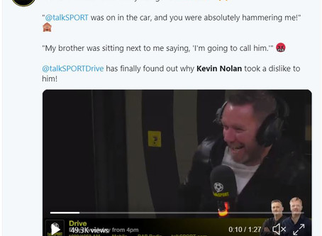 Kevin Nolan features on TalkSport Drive Show