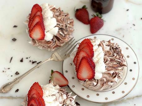 Chocolate Strawberry Pavlova