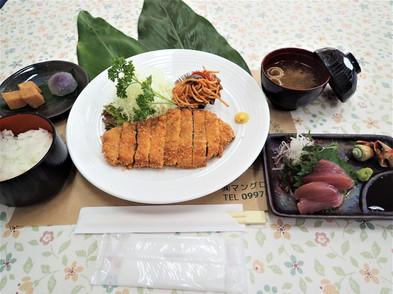 黒豚とんかつ刺身セット1,500円.JPG