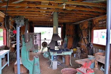 Functional blacksmith shop