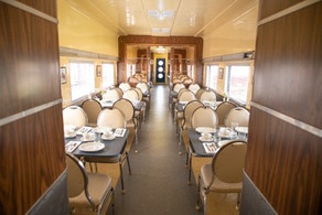 Inside the dining car