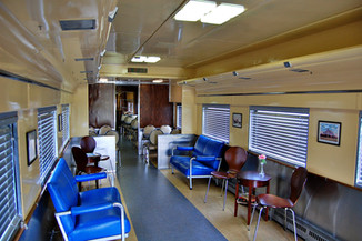 lounge area of dining car