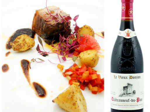 The Hunt – Roasted Leg of Wild Boar with Peppers, Fingerling Potato and Pink Grapefruit, served with