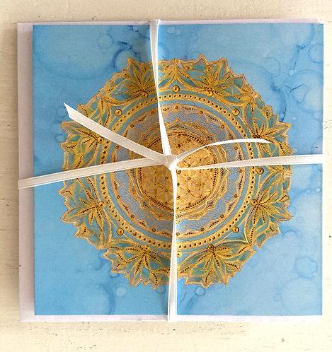 Spirit - blue - greeting card