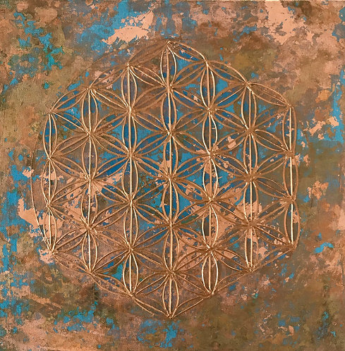 Flower of life-mindfulness copper