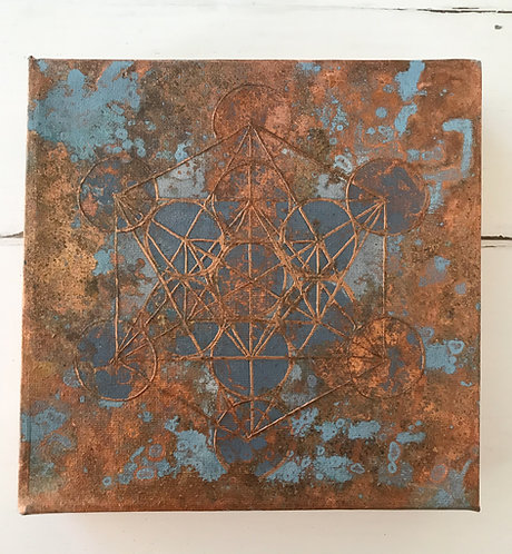 Metatrons Cube II Copper -available -Preis auf Anfrage