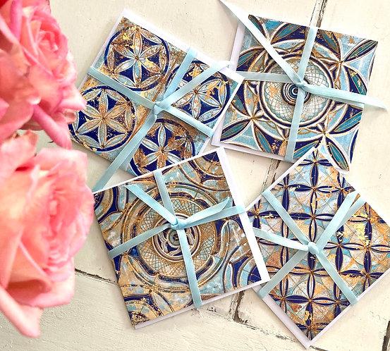 The Mediterranean - Greeting card Set of 4 - Karten set 🦋
