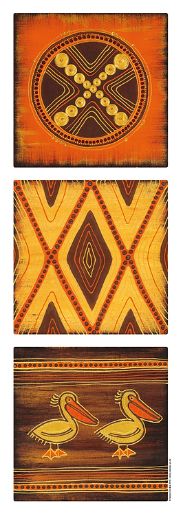 3 Originale aus African Art 2018 April -available -Preis auf Anfrage