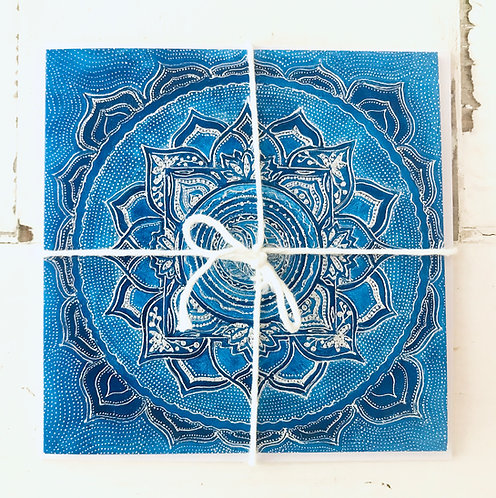 Mindfulness Harmony Greeting Card Blue | Glückwunschkarte