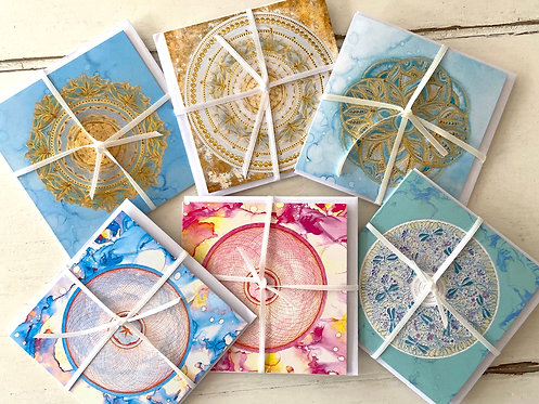 Mindfulness greetings card set II - 6 cards