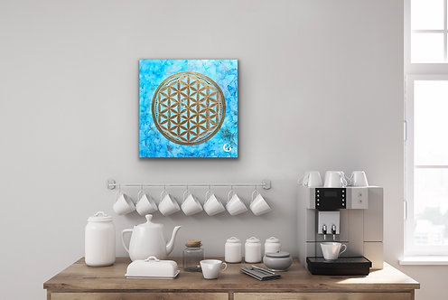 Flower of life - blue draft