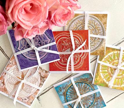 Mindfulness Greeting card Set III of 6 - Glückwunschkarten Set III