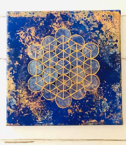 Mindfulness Meditation -Metatron's cube 1,8 cm -SOLD