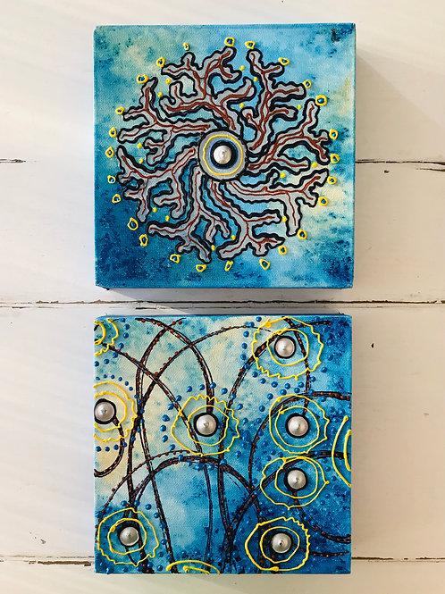 Blue Ocean yellow III ∞ 2 Bilder -available -Preis auf Anfrage