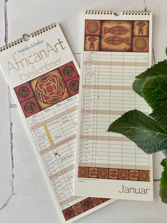 Thumbnail: Familientimer ∞ AfricanArt 2021 ∞ Korsch Verlag