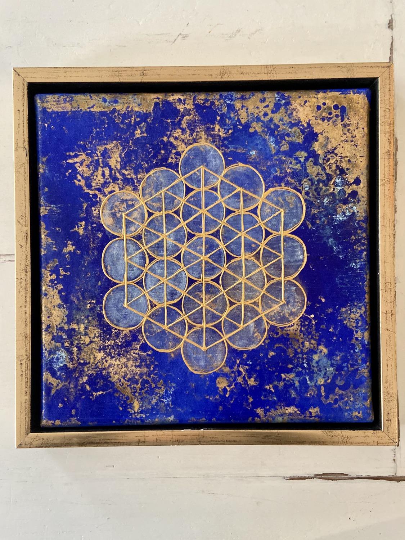 Thumbnail: Mindfulness Meditation -Metatron's cube 1,8 cm -SOLD