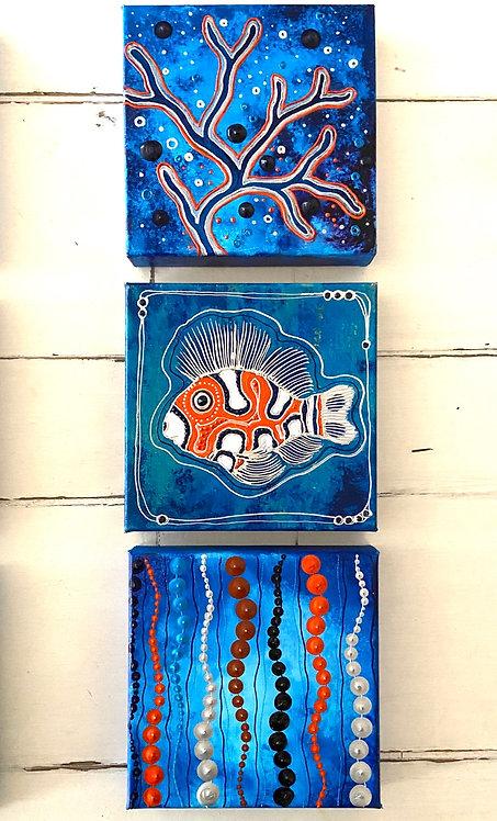 Blue Ocean orange l ∞ 3 Bilder -available -Preis auf Anfrage