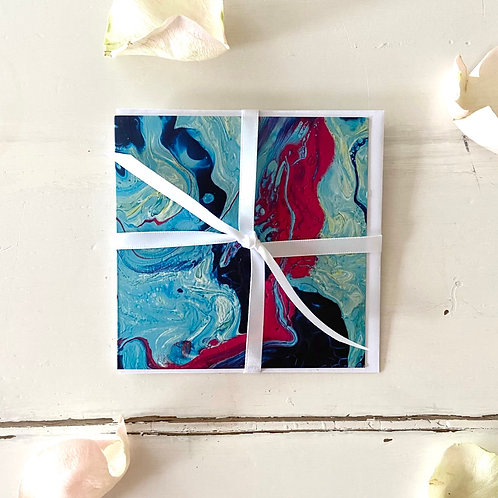 Abstract Series - Self-Care - greeting card -Glückwunschkarte