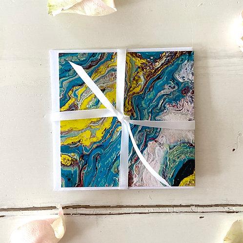 Abstract Series - When The Ocean....- greeting card -Glückwunschkarte