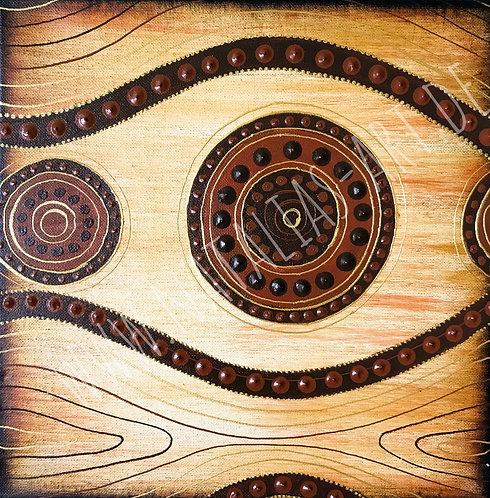 AfricanArt brown pattern - sold