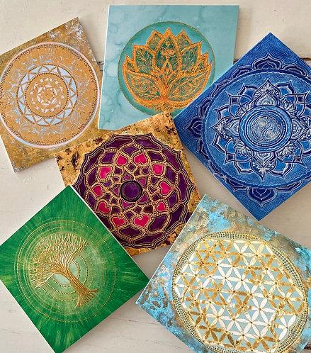 Mindfulness,  Set I  - 6 cards with envelopes