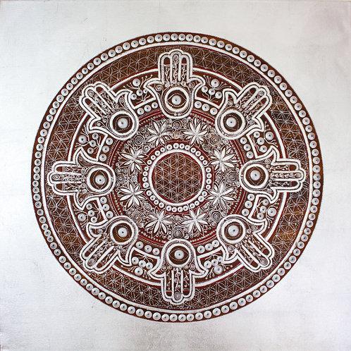 Hamsa Mandala ∞ silver - SOLD