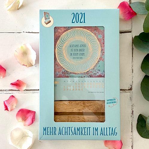 Mehr Achtsamkeit im Alltag Tischkartenakalender 2021 - Pattloch Verlag