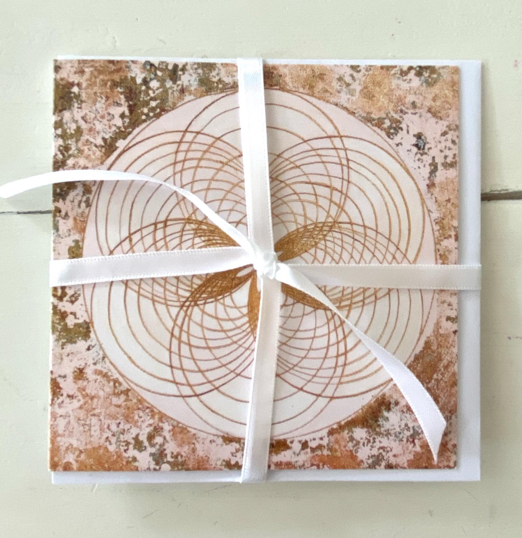 Silence - Stille - greeting card - Glückwunsch karte