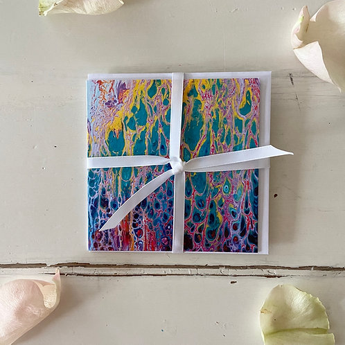 Abstract Series - Mind-Body-Soul - greeting card -Glückwunschkarte