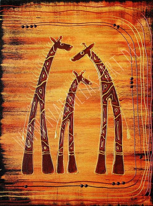 AfricanArt Giraffen -SOLD