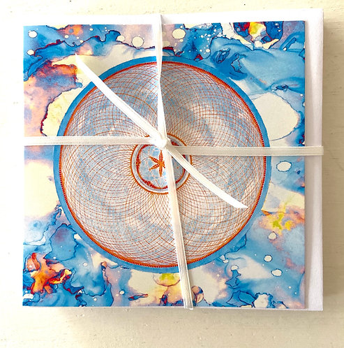 Mindfulness - wholeness - blue- greeting card
