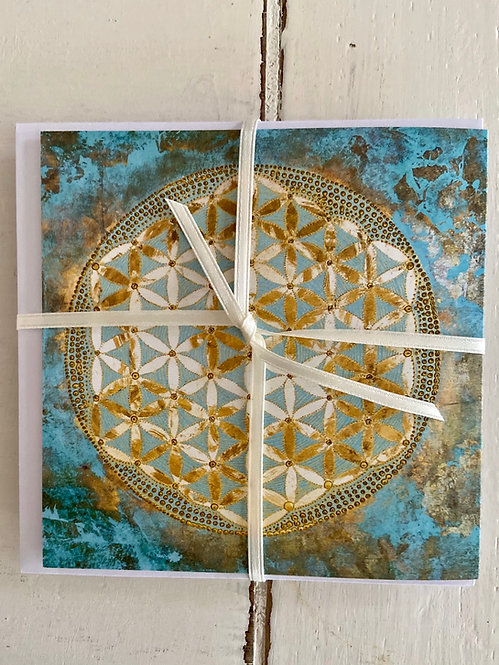 Greeting card - flower of life
