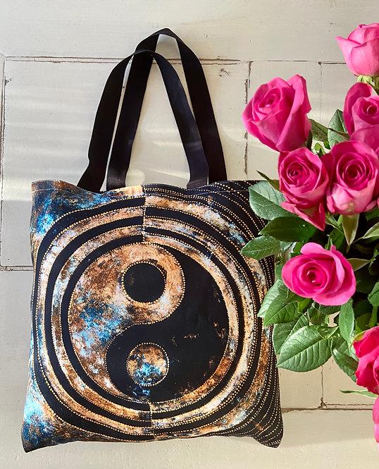 Yin Yang Hochwertige Stofftasche 40 x 40 cm