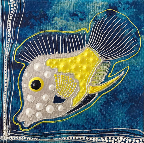 Blue Ocean yellow Fish -available -Preis auf Anfrage