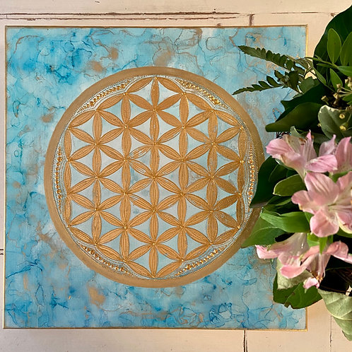 Flower of life - blue draft - SPECIAL