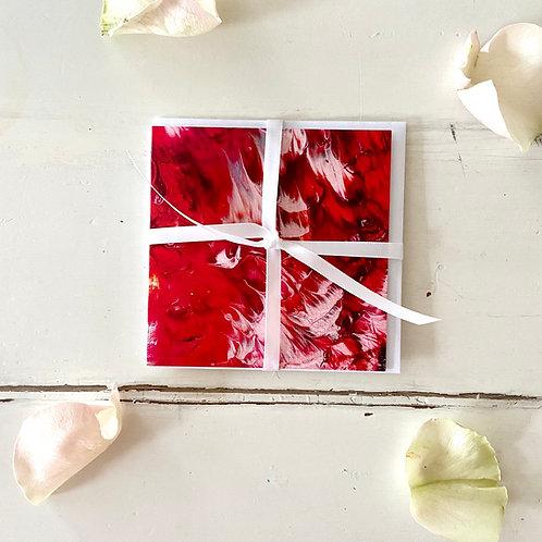 Abstract Series - LOVE - greeting card -Glückwunschkarte