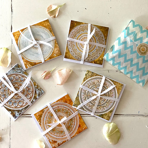 White sage - greeting card set of 5  cards with envelopes