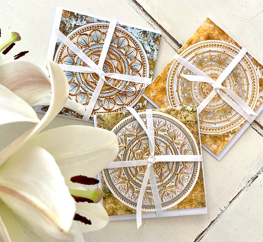 White sage - greeting card set of 3 cards with envelopes