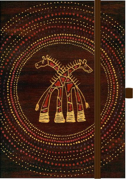 African Art Giraffen∞ Premium Notes Big ∞ Korsch Verlag