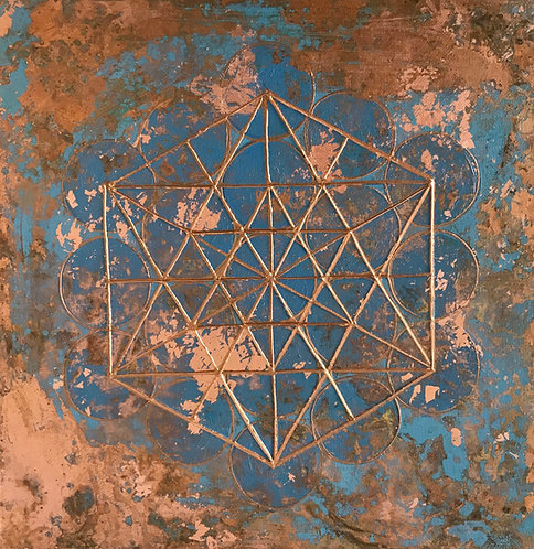 Metatron's cube - mindfulness copper
