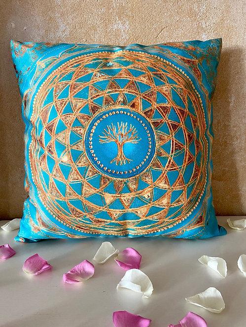 Tree of Life-Flower of Life - Pillow -Kissen - 40 x 40 cm