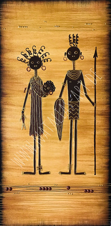 AfricanArt  Familie  - SOLD