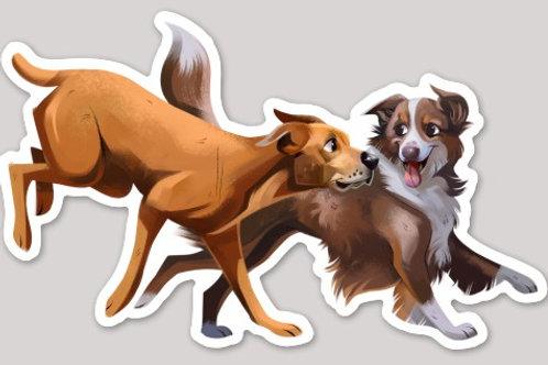 Tuck & Oak Running Sticker