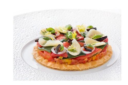 Tarte fine de courgettes et tomates confites
