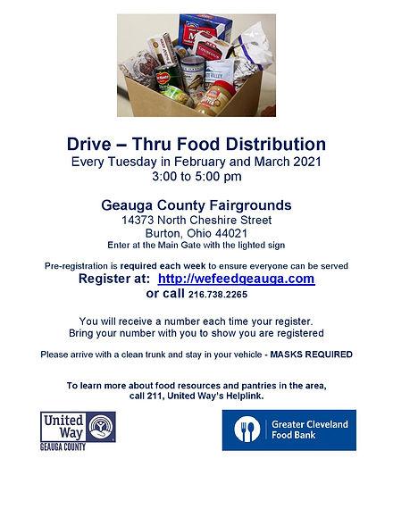 Flyer - Food Distribution Fairgrounds-pa