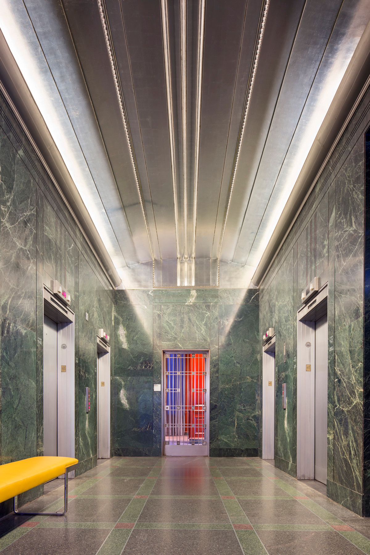21c Durham - Elevator Lobby
