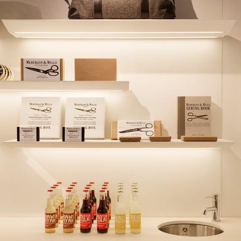 Hardy Amies - Display Shelves Detail