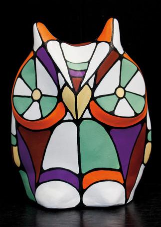 Hibou en plâtre Vendu