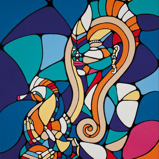 Peinture acrylique sur toile 60x80cm Vendu